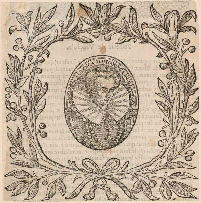 Louise de Lorraine en médaillon (BnF)