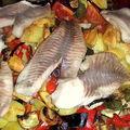 Legumes grilles aux poissons