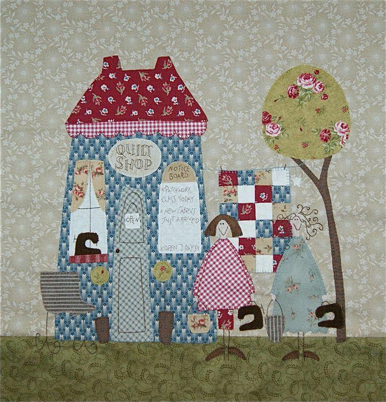 My quilt shop le coffre de poupette - Casas de patchwork ...