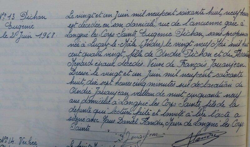 1978 D Eugénie Pichon à Longpré les corps saints