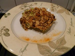 Crumble cabillaud courgettes 4