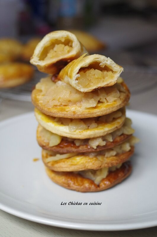 Chausson aux pommes avec essai pâte feuilletée (15)