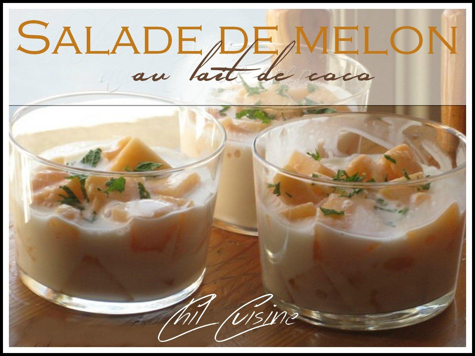 Salade de melon au lait de coco