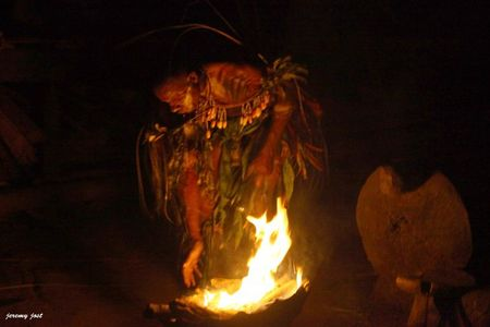 fire crocodile man