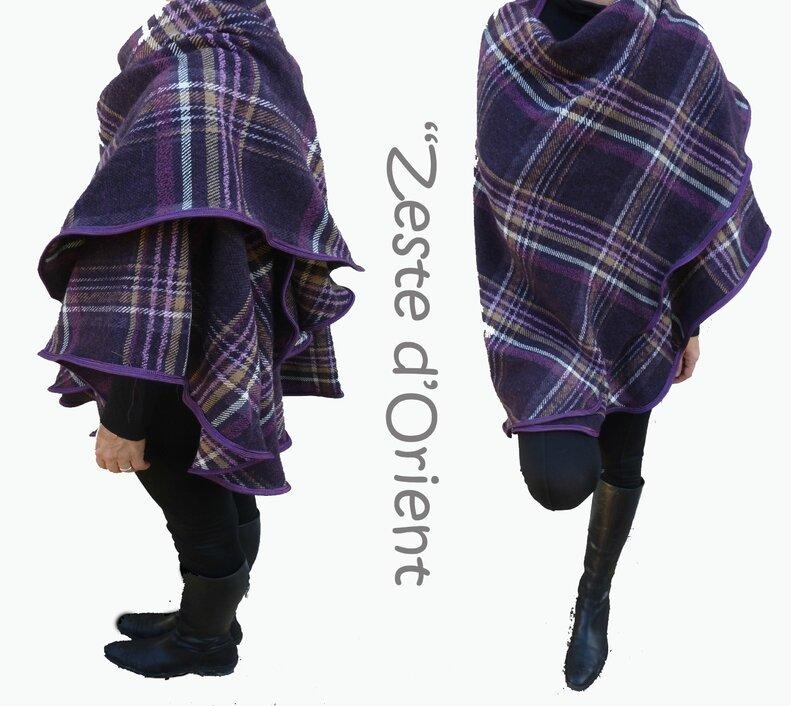 Grande_cape_écossais_violet