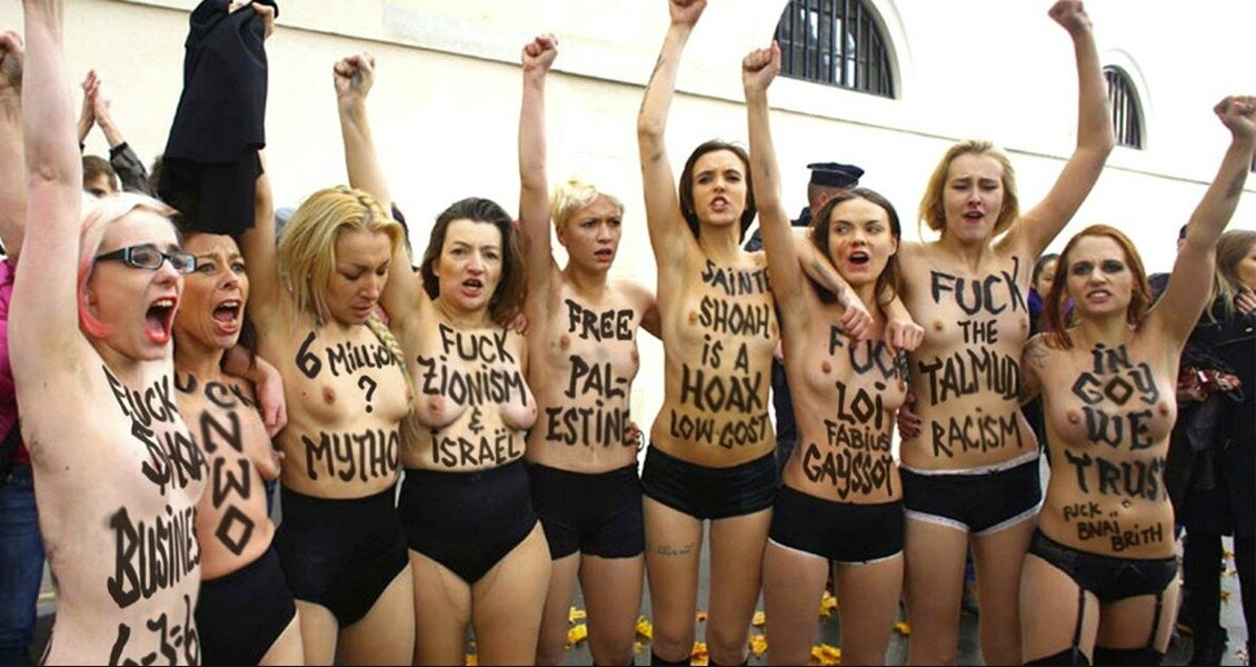 FEMEN islamo-collabo-négationniste