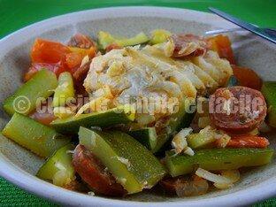 cabillaud au chorizo et légumes 05