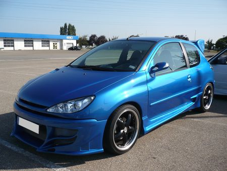 peugeot 206 blue tuning vroom vroom. Black Bedroom Furniture Sets. Home Design Ideas