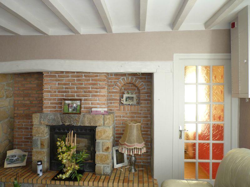 Poutre repeint st phanie et l onore d co for Peindre un plafond avec des poutres