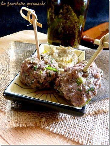 Boulettes aux épicées et caviar d'aubergine 4