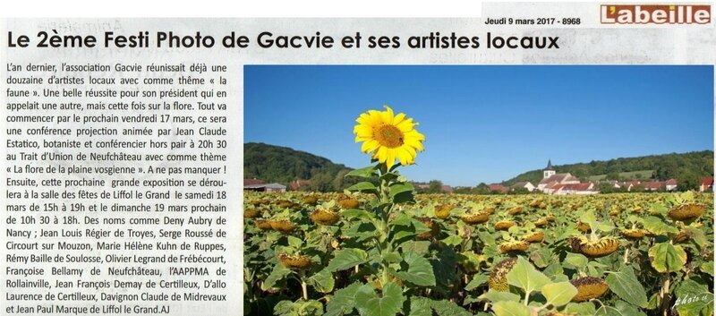 Article du 9 mars - 2eme festi photo