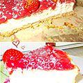 Cheesecake fraise - noix de coco