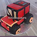 Gâteau tracteur 3d