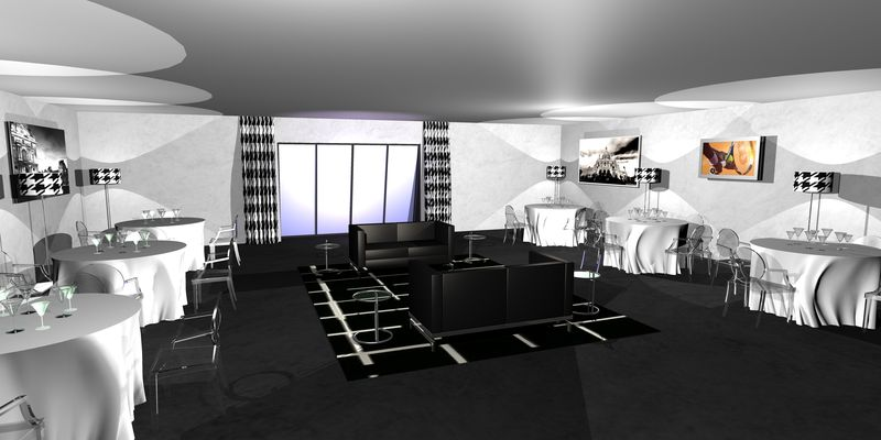 Salon noir et blanc photo de 2 4 d coration int rieure for Deco salon noir blanc