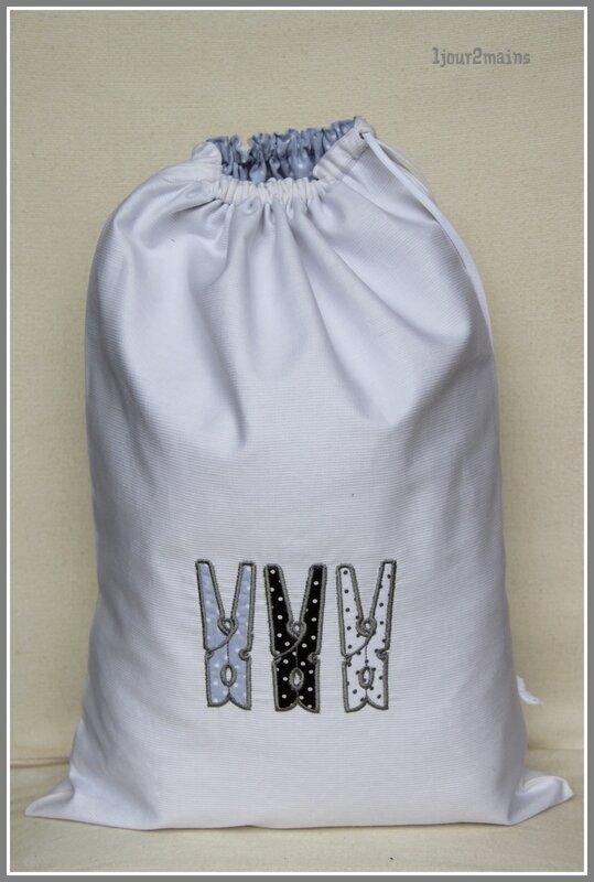 sac linge pince à linge