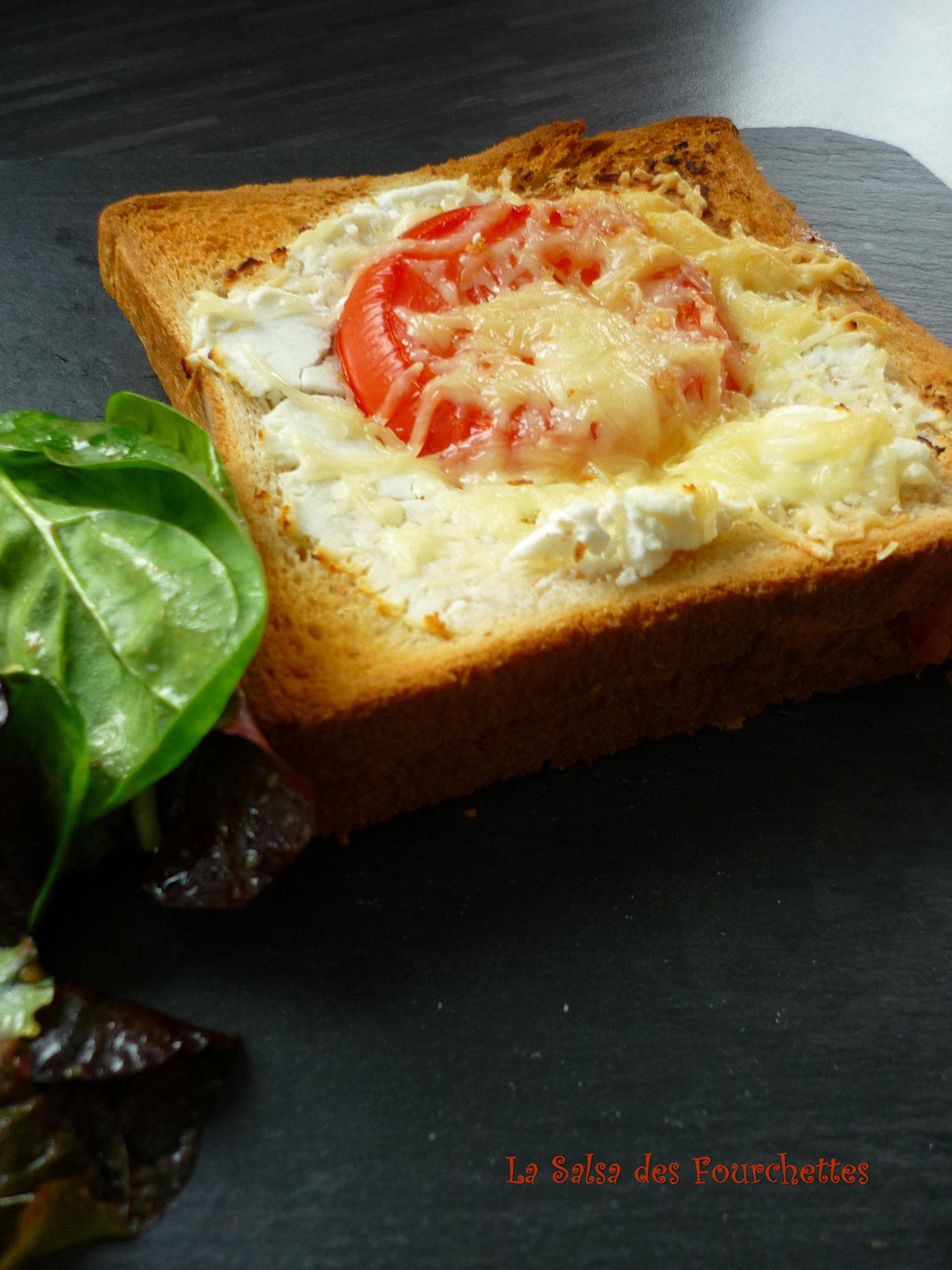 croque monsieur jambon cru mozzarella ch vre tomate la. Black Bedroom Furniture Sets. Home Design Ideas