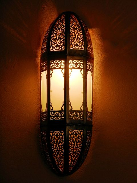 Moroccan Wall Lights Silver : Moroccan lamps and lights, sconce and its outstanding openwork rose patterns. - MEDINA TOUCH