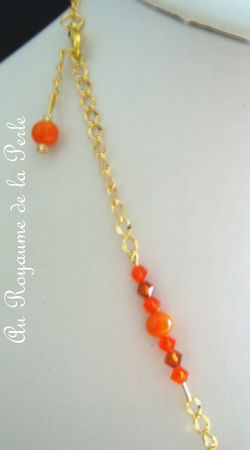 Collier orange B détail 2