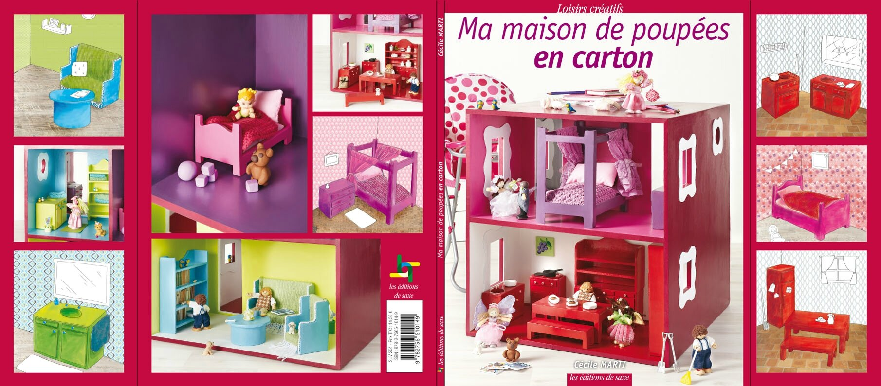 mon livre sur la maison de poup e en carton c cylia cr ations. Black Bedroom Furniture Sets. Home Design Ideas