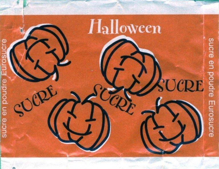Emballage de sucre Halloween Citrouille