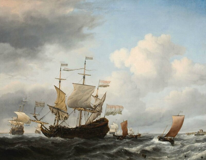 A-Dutch-Flagship-Coming-to-Anchor_Willem-van-de-Velde-the-Younger_4x3-uncropped
