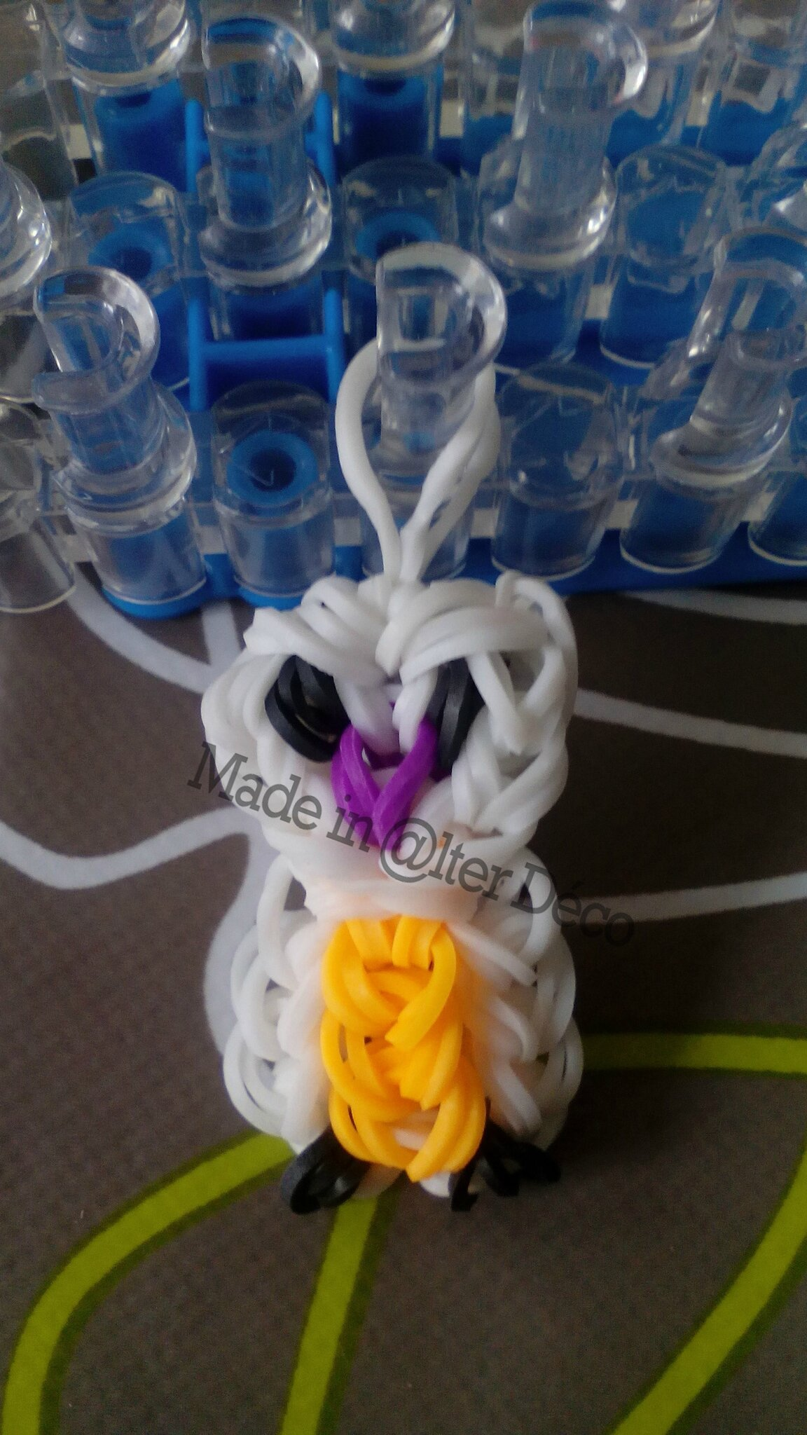 Hibou en élastiques