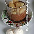 Panna cotta au chocolat et poires compotées à la fêve tonka