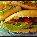 Sandwich au poulet pané