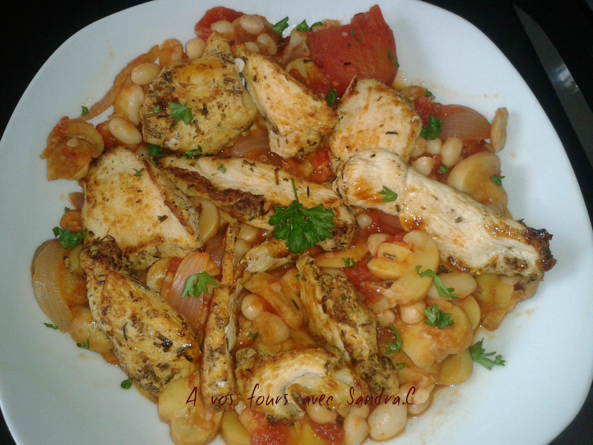 Mijot haricot blanc tomate champignon 4 pp la part - Comment cuisiner des blancs de poulet ...