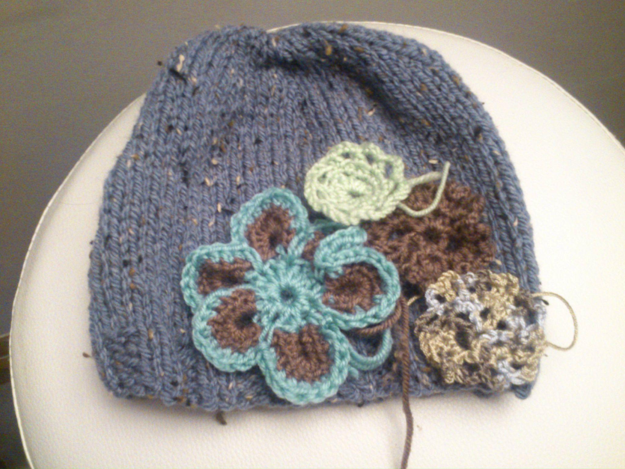 tricoter une fleur youtube