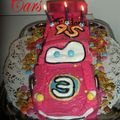 Gâteau cars flash mc queen 3d