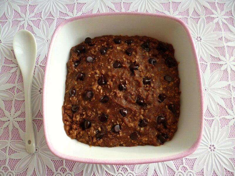 Bowl Cake Noisette Amande Pepites De Chocolat Avec Son D Avoine Et