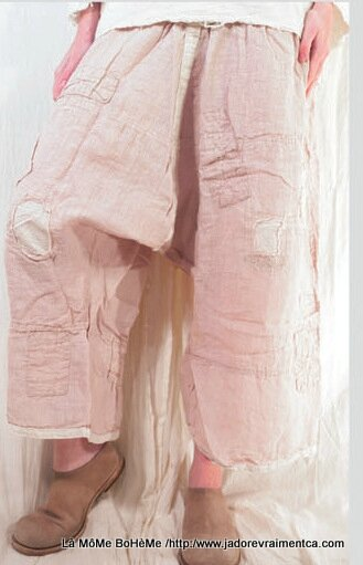 1-MP Pants Oliana pants with back tie, side and patches powder rose