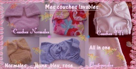 Couches lavables
