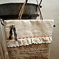 12 Petit sac en lin