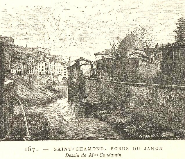 bords du Janon dessin Mme Condamin
