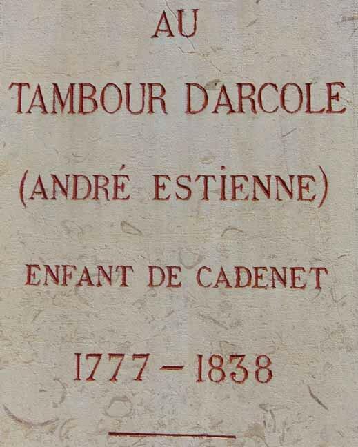 Tambour d'ARCOLE, Cadenet-14 juillet 2015