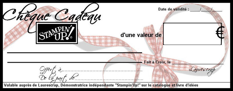 cheque cadeau up