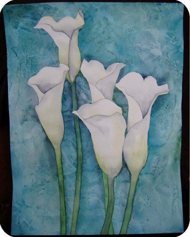 Arums aquarelle 24 02 2010 002