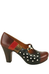 chie mihara chaussures à pois