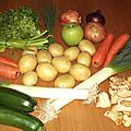 Hachis parmentier végétarien, tarte, gratin dauphinois aux légumes allégés et non allégés