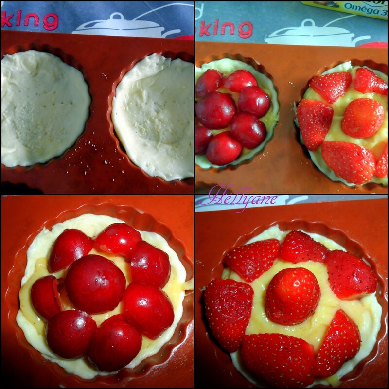 tartelettes cerise fraise crème patissière