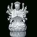 A Blanc de Chine porcelain divinity, China, Dehua, 19th century