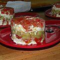 Tartare tomate, concombre, féta