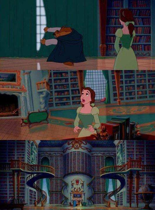 Beauty and the Beast's wonderful library
