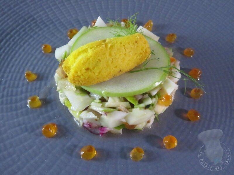 Fraîcheur de thon fumé, fenouil, citron de Menton