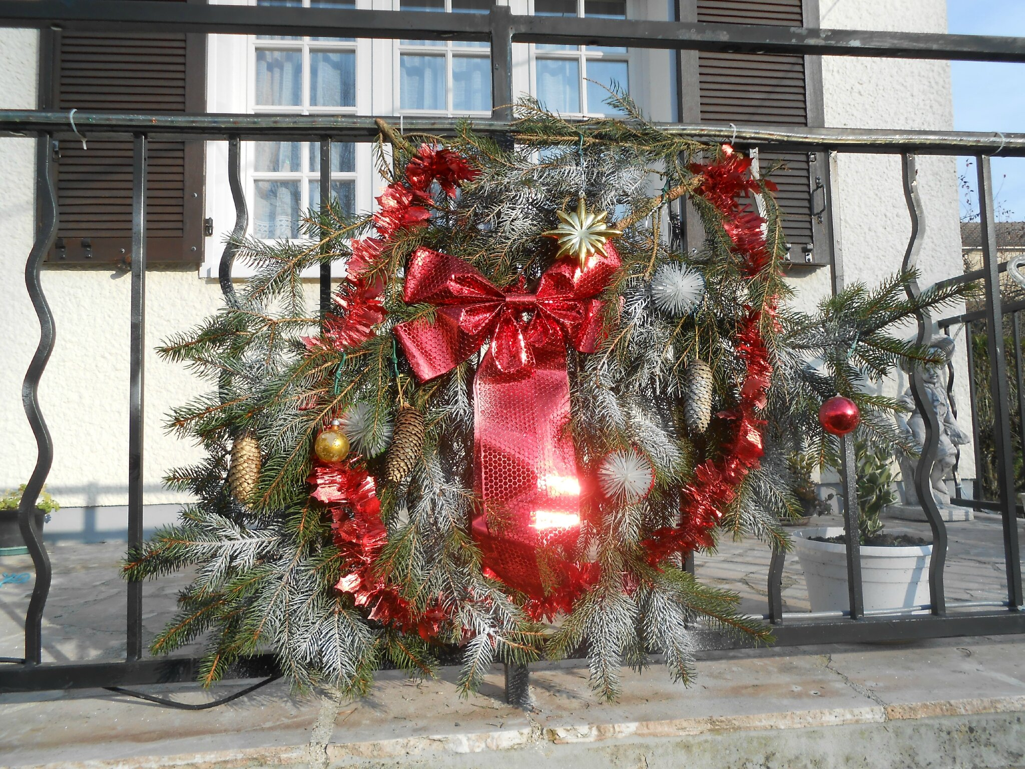 Decorations de noel exterieur louloupatch for Decoration exterieur hiver