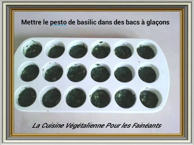 pesto basilic glacon
