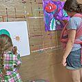 Peindre en famille... activité partagée...