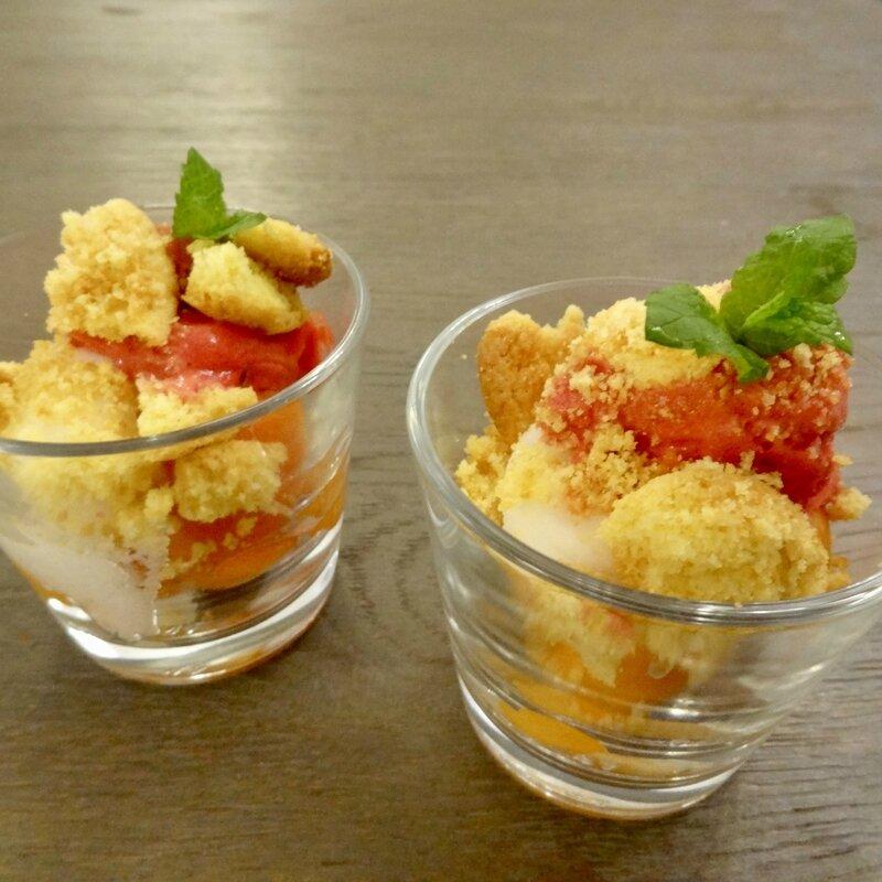Verrines glacées à l'abricot 3